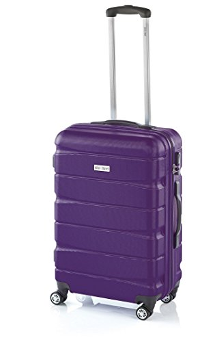 Double2 de JohnTravel, Maleta Mediana 60 cm, ABS - Lila