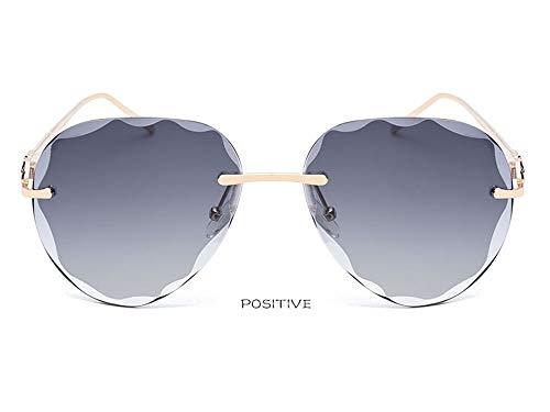 CXYGHXG Fashion-Sonnenbrille, Randlose Brille, Blendfreies HD-Sehen, UV400-Schutz, Outdoor für Männer und Frauen, Fahren, Radfahren, Skifahren, Reiten (Color : A)