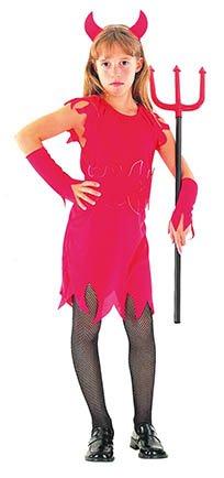 EL CARNAVAL Devil Girl Kostüm Kinder Größe von 6bis 8Jahren (Kind Devil Girl Kostüm)