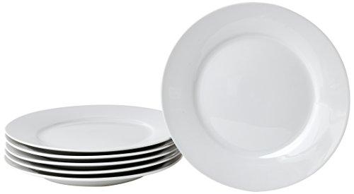 Deagourmet 204Saturn Set von 6Dessertteller aus weißem Porzellan weiß