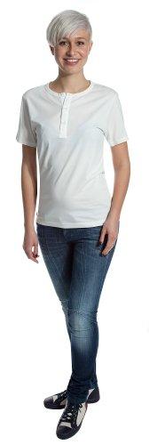 j-lindeberg-t-shirt-collo-a-u-maniche-corte-donna-beige-ivoire-xl