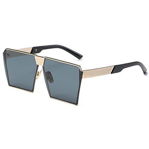 Unisex Sunglasses, Rcool Women Men Fashion Metal Frame Square Sunglasses Classic Tone Luxury Aviator Mirror Lens Glasses Travel Sunglasses