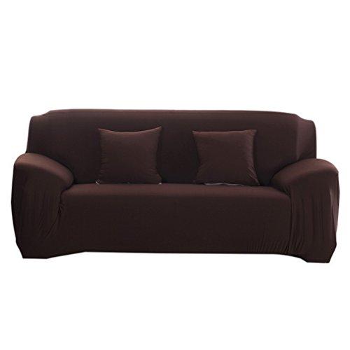 Souarts Sofabezug elastische Stretch SofaBezug mit 4 verschienden Größe Bezug Couchsessel für (3 Sitzer, 190-230cm, kaffeebraun)