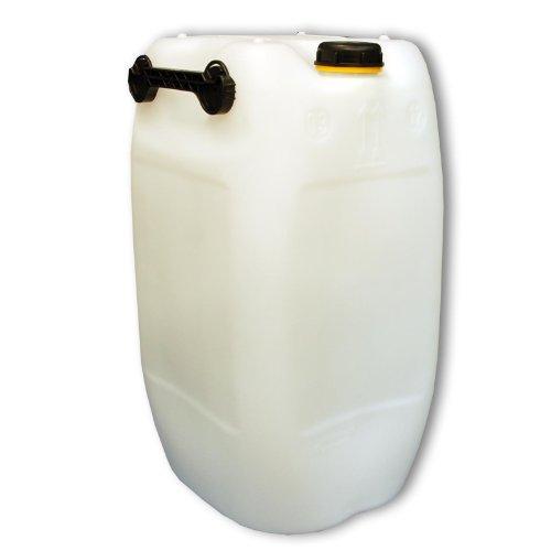 Bidon – Jerrican 60 L, 3 poignées, naturel HDPE ouverture DIN 71 qualité alimentaire (22251)
