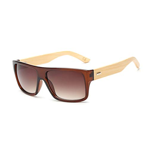 Sport-Sonnenbrillen, Vintage Sonnenbrillen, Original Wooden Bamboo Sunglasses Men Women Mirrored UV400 Sun Glasses Real Wood Shades Gold Blue Outdoor Goggles Sunglases Male KP 1523 C8 Brown