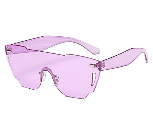 ZYPMM 2017 Europa und die Vereinigten Staaten Mode Damen Sonnenbrille neue Strand Brille ozeanischen Film Stück der einzelnen Sonnenbrillen ( Color : Lila )