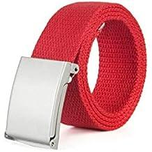 Battercake Cinturón De Lona Juvenil Hombres Y Mujeres Cinturón De Vaqueros  Lona ... 8d02e68b23a5