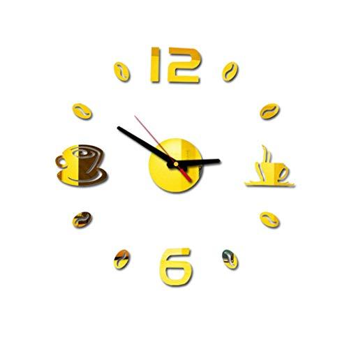 letter54 Wanduhr Funk Digital Lautlos 3D DIY Römische Zahlen Acryl Spiegel Wandaufkleber Uhr Wohnkultur Wandtattoo Modern Wandtattoos Kinder Wandaufkleber Wohnzimmer
