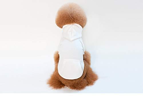 Dog Kostüm Superman Medium - PZSSXDZW Frühling und Herbst Winter Pet Kleidung Baumwollfleece Einfarbiges Band Haustier Pullover White Medium