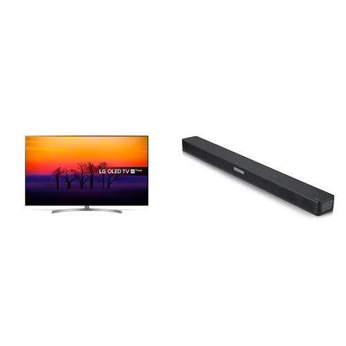 LG OLED55B8SLC 55-Inch Premium 4K Ultra HD HDR Smart OLED TV and LG SK5 Soundbar