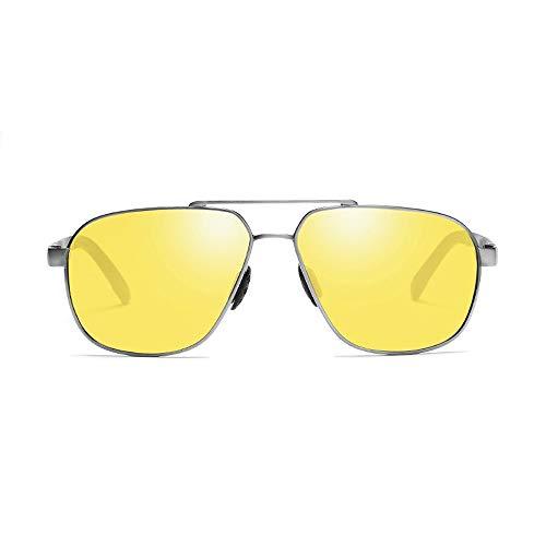 Gläser Nachtgläser Herren Nachtfischen Nachtfahrten Polarisierte Gläser Tag & Nacht Polarisierte Sonnenbrillen Fahren Sie mit UV400 UV Cut (Color : Grau, Size : Kostenlos)
