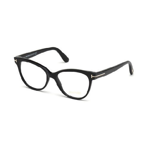 Tom Ford Für Frau 5291 Shiny Black Kunststoffgestell Brillen, 53mm