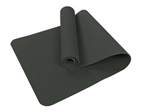 6mm TPE Hohe Dichte Anti-Riss Fitness Matte für Pilates Übung Gymnastik mit Tragetasche (Yoga-matte Bügel)
