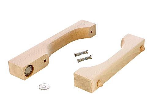 eliga Türgriff-Set mit Magnetverschluss für Glastüren