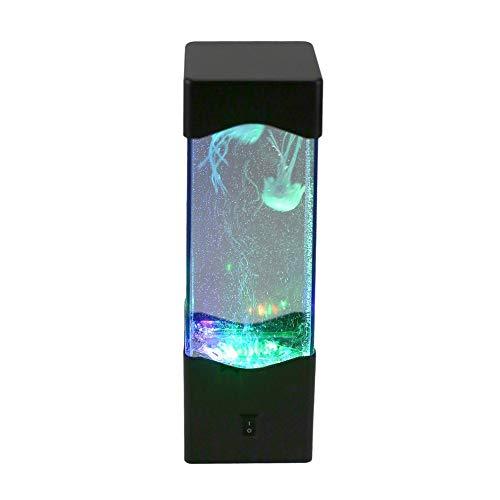 Eloveban LED Tischleuchte Relax Bett Stimmungslicht für Dekoration magische Lampe Quallen Aquarium Beleuchtung