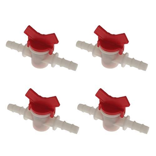 Almencla 4 STÜCKE Wasserpumpe Gerade Ventil DIY Wasserstrom Schalter 10mm -