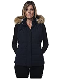 Hunter Outdoor Ladies Fur Trim Gilet Navy Perfect for Riding