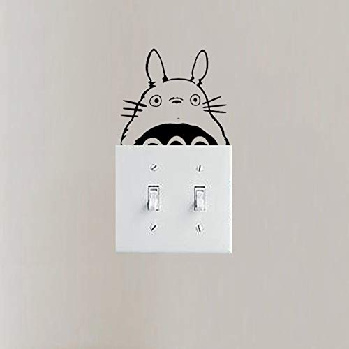 wonder4life Cute Totoro Decoration Silhouette Wall Stickers DIY Style Doorbell Switch Funny Switch Stickers