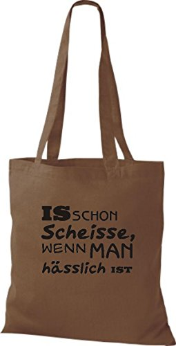 Shirtstown, Borsa tote donna Marrone (Marrone)