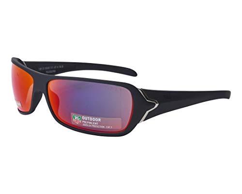 TAG Heuer Sonnenbrillen (TH-9202 711) matt schwarz - brau-grün mit petrol verspiegelt effekt