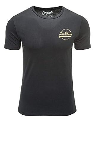 Jack & Jones Herren T-Shirt Kurzarmshirt Shirt Print O-Neck (L, Tap Shoe)