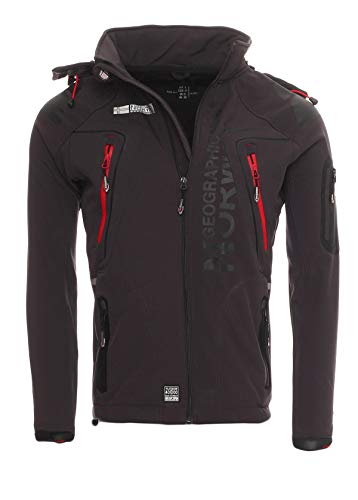 Geographical Norway Tambour - Chaqueta Softshell para Hombre, Hombre, Color Gris Oscuro, tamaño Small...