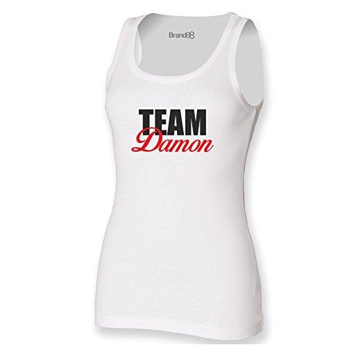 Brand88 - Team Damon Damen T-Shirt Ohne Arm Weiß