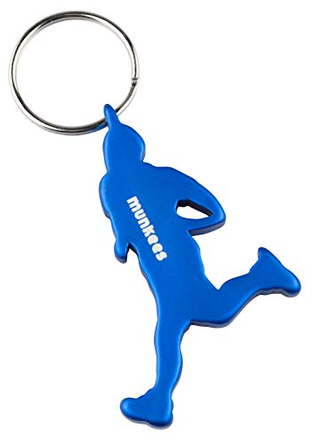 munkees Schlüsselanhänger Läufer-Figur Flaschenöffner Sport-Fans, Blau, 35266 Granny Cap