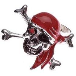 Wilbers Karnaval - Anillo con diseño de calavera pirata
