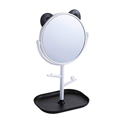 Multi-function Desktop Vanity Mirror, Cartoon Large Rotating Mirror, Desktop Vanity Mirror With Tray Makeup Small Mirror Princess Mirror - Light Up Tabletts