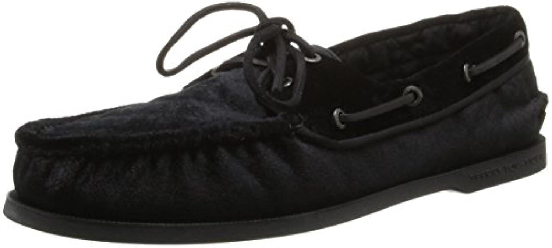 Sperry Topsider para hombre, aut¨¦ntico calzado original para barcos NEGRO 10.5 W