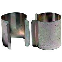 Lot de 20 clips métal revêtement Zinc 25mm x 30mm pour serre