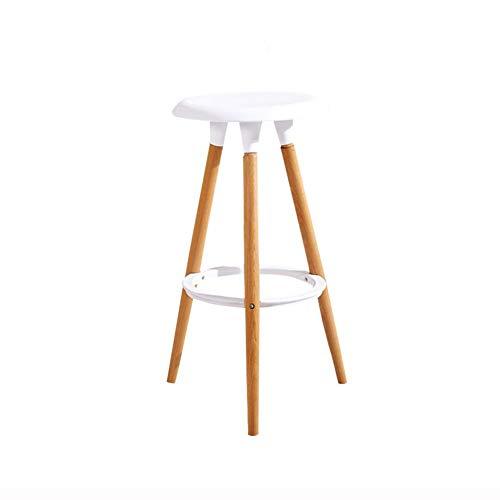 Tabouret De Bar En Bois Contre-chaises Antidérapant Stable Pour Accueil Cuisine À Manger Café Bar (Couleur : Blanc)