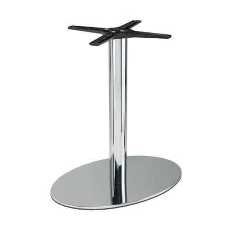 Lucci Elegante tavolo ovale cromato tavolino altezza, oak, 1200x800mm