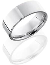 SlipRock Cobalt Chrome, Satin Polished Flat Wedding Band (sz H to Z1)