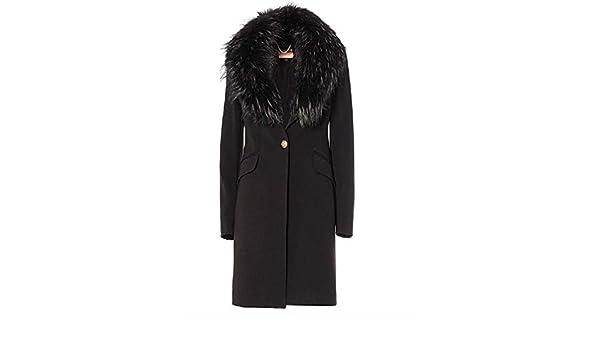 KOCCA JOLUKAFUR Cappotto nero da donna: Amazon.it: Scarpe