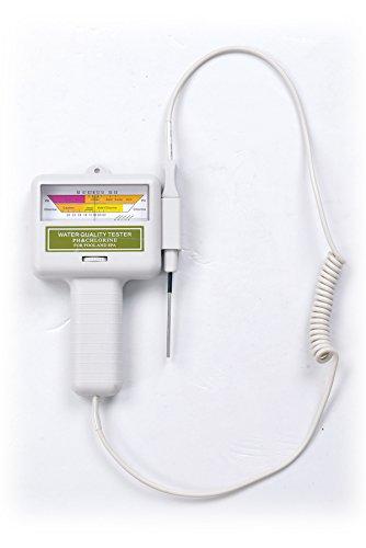 Jilong Batterie Pool Wassertester Pooltester Wasseranalyse Messgerät für Wasserqualität mit Chlor & PH Wert Anzeige
