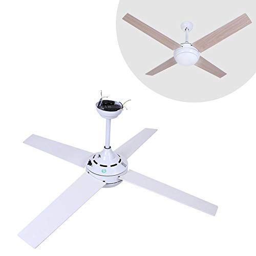 GOTOTP 52 Pulgadas Ventilador de Techo de Madera con Luz con Mando a Distancia para Dormitorio Interior...