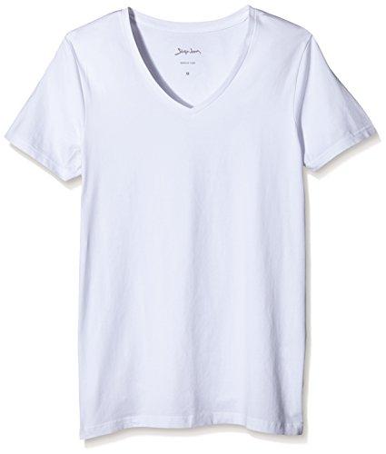 Signum Herren T-Shirt V-Neck Dopa, 2er Pack Weiß (optical white 100)