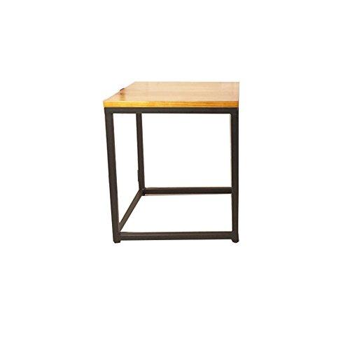 Table and chair CSQ Tisch, Couchtisch, Beistelltisch, Sofa Beistelltisch Nachttisch Schreibtisch Frisiertisch Esstisch Massivholz + Eisen Material 40-50CM Kaffetisch (größe : B) -