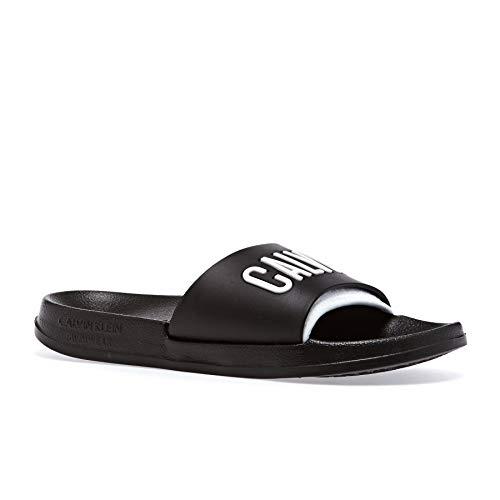 Calvin Klein Slide Womens Sandals 39-40 EU Black White