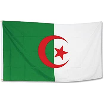 Drapeau Algerie - 90 x 150 cm: Amazon.fr: Jardin