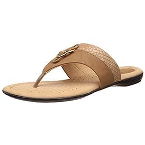 Bata Women's Crocotrimthong Leather Slippers