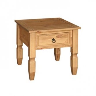 Santa Fe Pine Lamp Table with Drawer