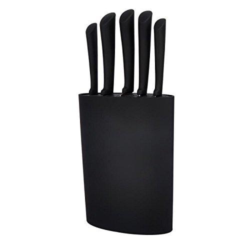 Bloc 5 couteaux lame inox noir