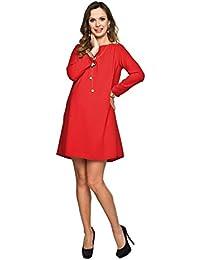 Maternity Shift Dress - Red