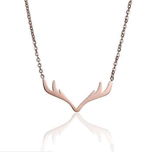 Kostüm Göttin Wind - Damen Halskette Geweih Titan Stahl Halskette
