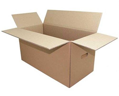 5 Stk. Umzugskarton HOME+OFFICE 650x305x(200)-325mm, variable Höhe 2wlg. / Sowohl für den privaten Umzug als auch für Büroordner, Papier geeignet