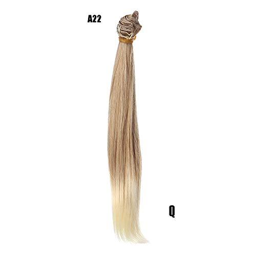 Berrose Mode Schulter Länge Gold Bobo Perücken mit Pony Haar Echthaar Gradient Kopf Perücke weiblich, graues Pulver Kurze Glatte Haare Luft Welle Flauschige ()