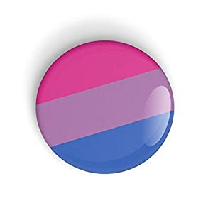 Bisexueller Stolz Bisexual Pride Flag Anstecknadel oder Kühlschrankmagnet LGBT LGBTQ LGBTQI LGBTQIA